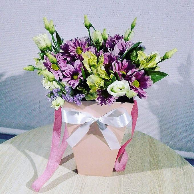 Весенние цветы в плайм-пакете