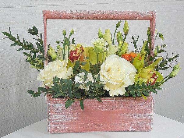 Цветочный ящик ДЕКО с орхидеей