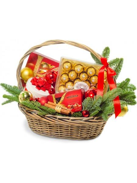 """Новогодняя подарочная корзина """"Сладости"""""""