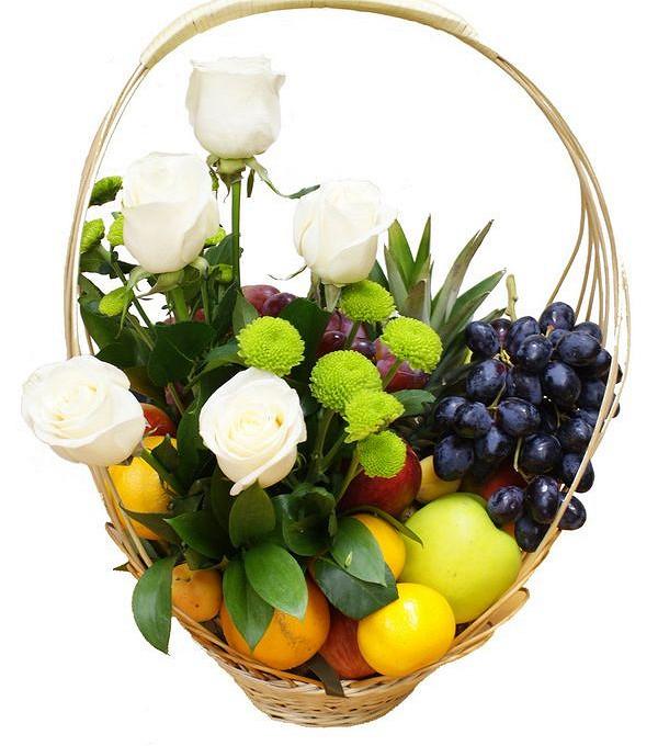 Женская фруктовая корзина №1