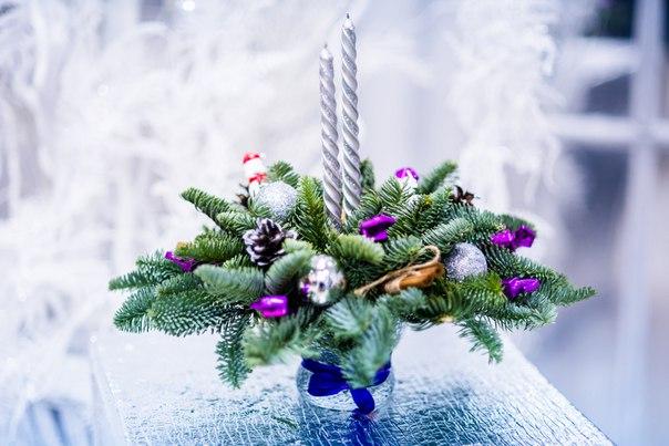 Композиция на стол новогодняя