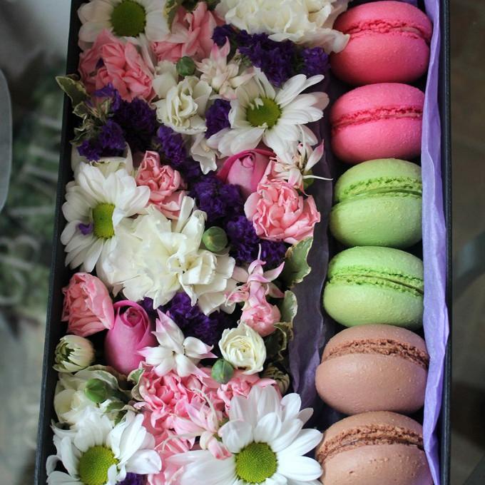 """Цветы и пирожные Macaron """"Ромашки"""""""