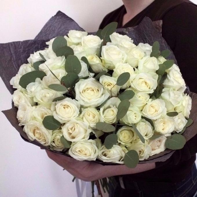 Розы с эвкалиптом 1
