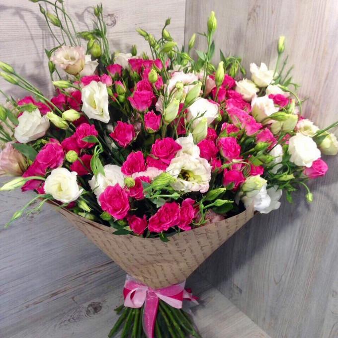 Розы с эустомой 2