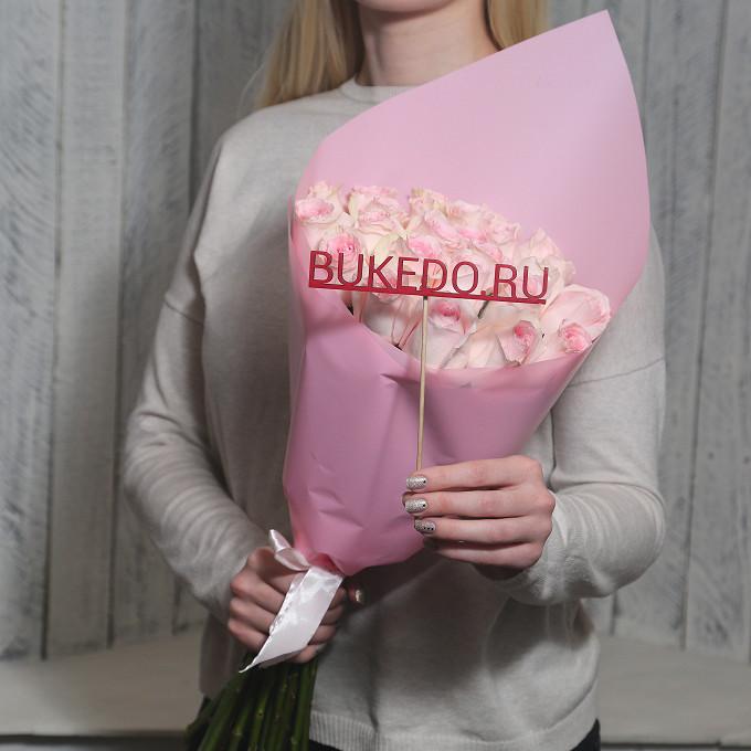 Нежно-розовые розы Кения, 50 см