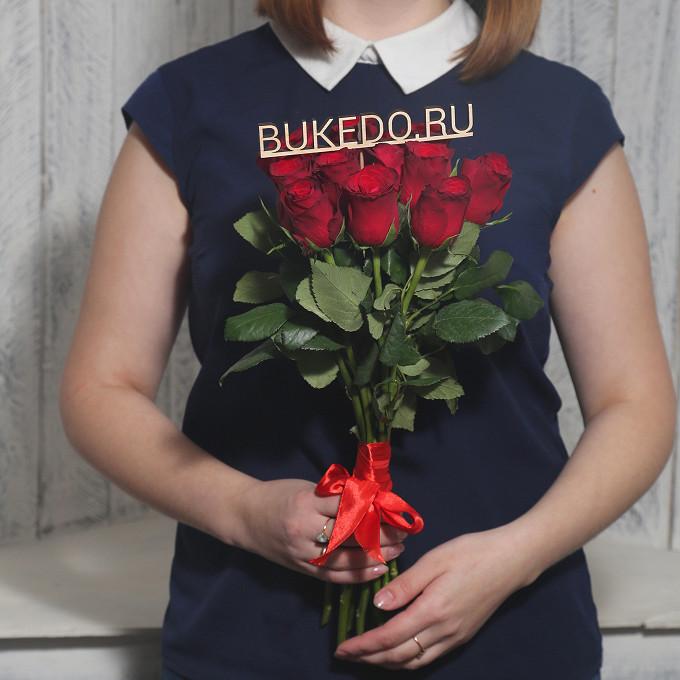 Красные розы Кения, 40 см