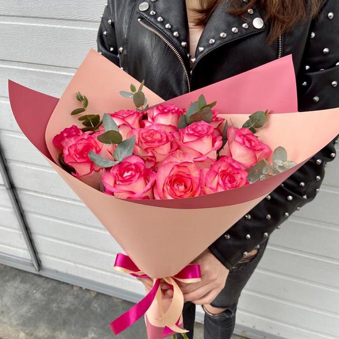 Стильный букет из Российской розы