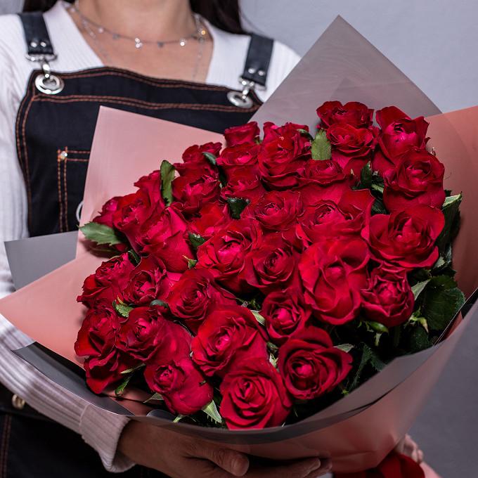 Моно букет - красные розы