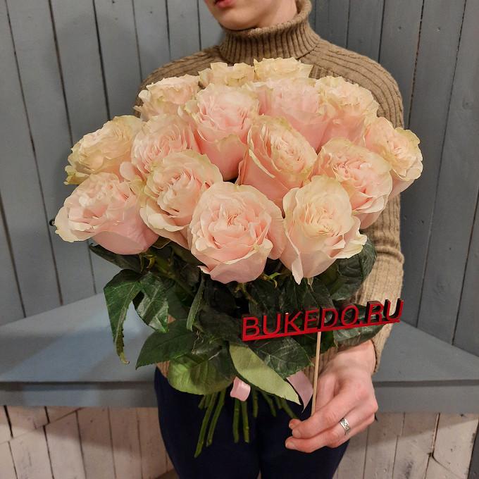 Нежно-розовые розы Эквадор, 60 см