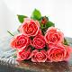 Букет из: роза (розовый, 40 см) — 7 шт., розовая лента — 1 шт. - Букет розовых роз - фото 3