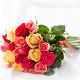 Букет из: роза (кремовый, 40 см) — 7 шт., роза (розовый, 40 см) — 7 шт., роза (ярко-розовый, 40 см) — 7 шт., розовая лента — 1 шт. - Нежный микс - фото 4