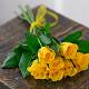 Букет из: роза (желтый, 40 см) — 7 шт., желтая лента — 1 шт. - Букет желтых роз - фото 3