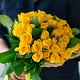 Букет из: роза (желтый, 40 см) — 39 шт., желтая лента — 1 шт. - Солнышко - фото 5