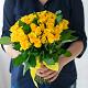 Букет из: роза (желтый, 40 см) — 39 шт., желтая лента — 1 шт. - Солнышко - фото 3