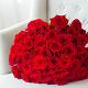 Букет из: роза (красный, 40 см) — 51 шт., красная лента — 1 шт. - 51/101 красная роза - фото 3