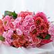 Букет из: розовая лента — 1 шт., удлинитель — 3 шт., ранункулюс (розовый) — 5 шт., гортензия (розовый) — 3 шт., роза пионовидная (розовый) — 3 шт., хризантема кустовая (коралловый) — 4 шт. - Букет с ранункулюсами и пионовидными розами - фото 4